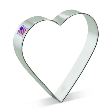 Heart Cookie Cutter, Huge 5 inch by Ann Clark